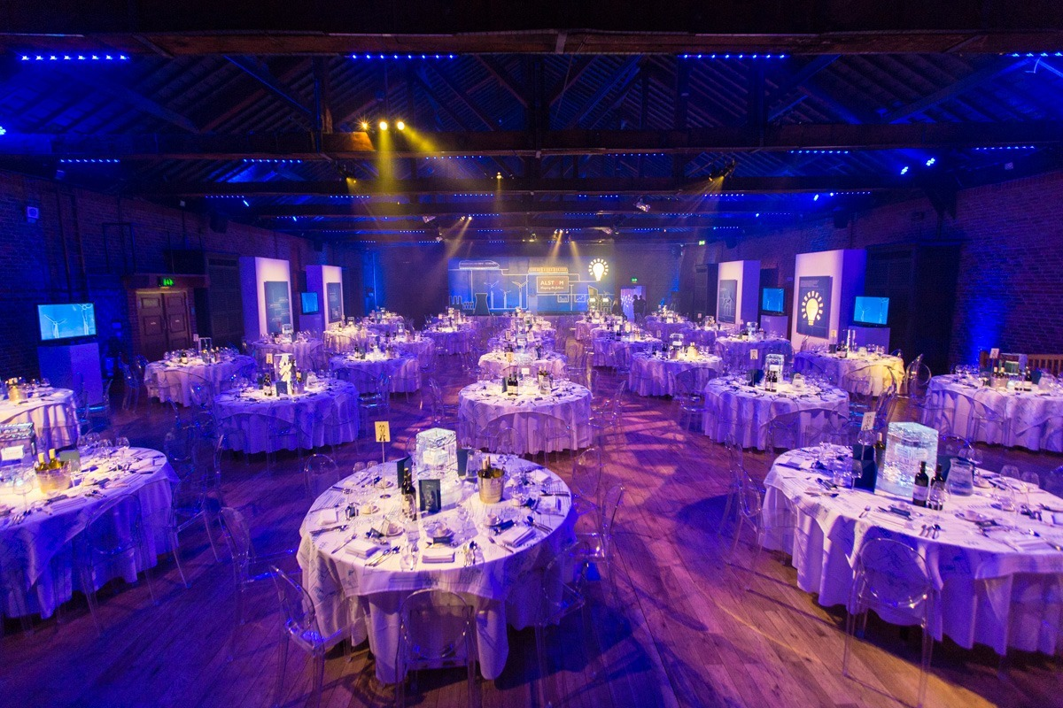 corporate event dinner tables