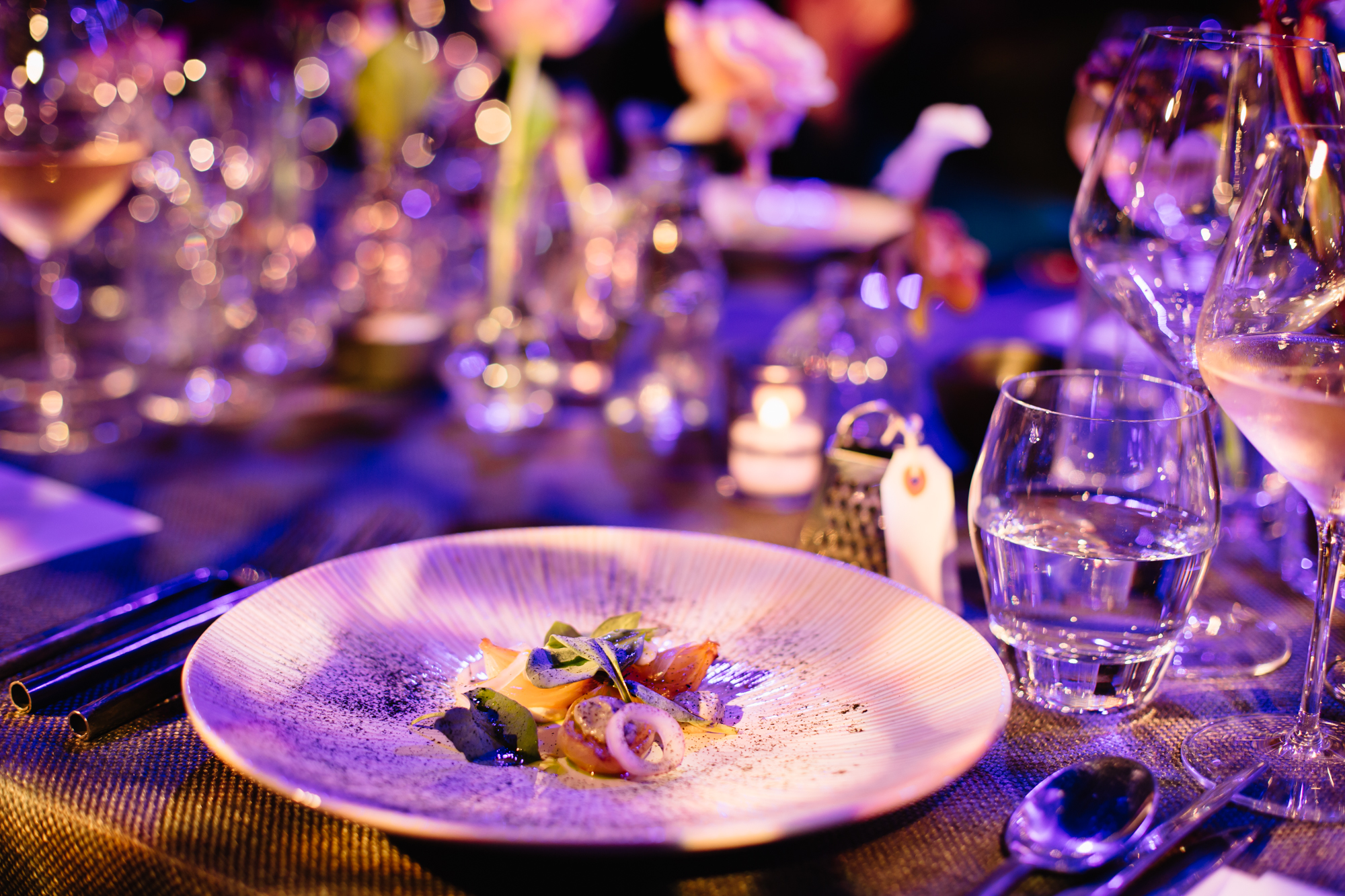 corporate event catering plate