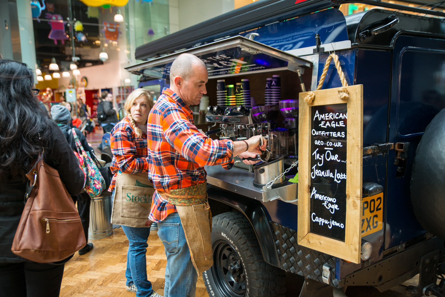 foodtruck at a brand event