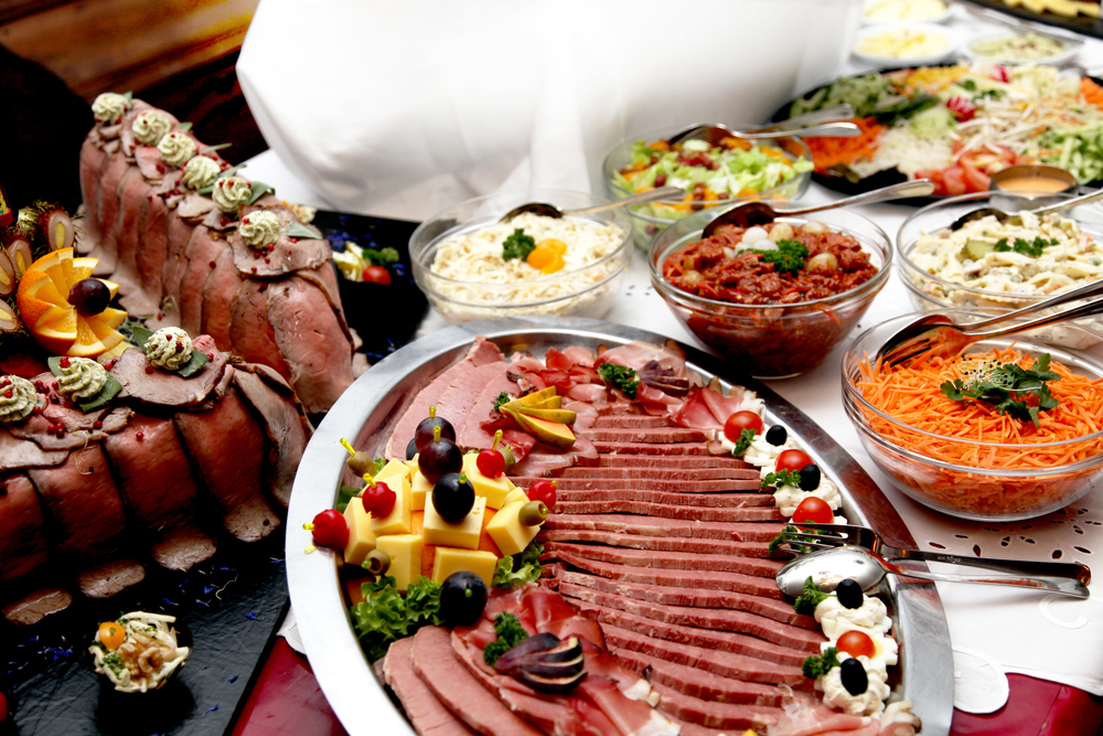 Dine at the various buffet served appetizing - bespoke catering