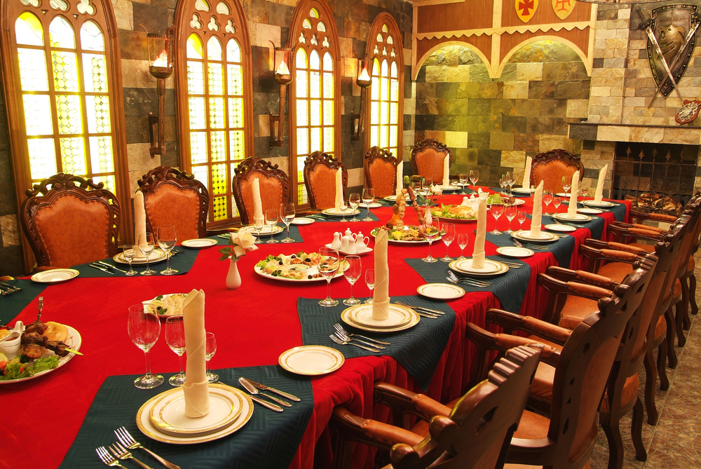medieval dinner as | winter party ideas