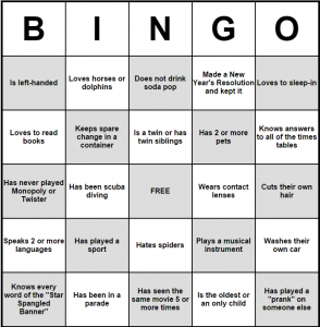 People Bingo Cards 2