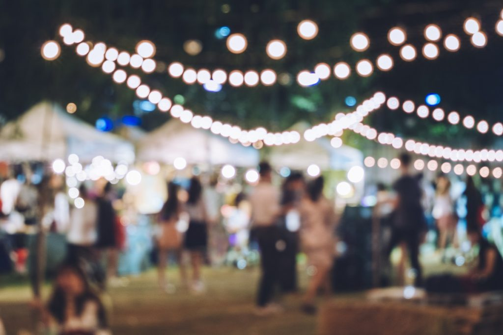 Festival Event Party with Blurred Background - event photography tips