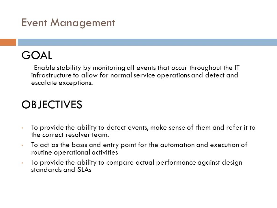 goals and objectives - conference planning checklist